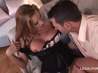 Trendy mature with a ultra-cute, chubby butt, Superb Bon got bum-fucked until she commenced pumping out like naughty