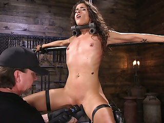 Scheduled up and egg on chick Victoria Voxxx gets punished off out of one's mind one oddball dude