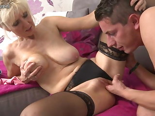 Hot mature mom fucks not their way son