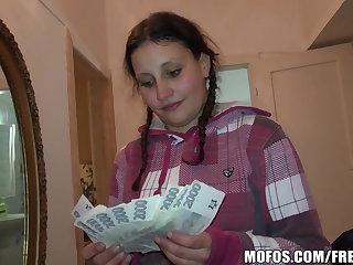 Pretty Czech student trades sexual intercourse for cash