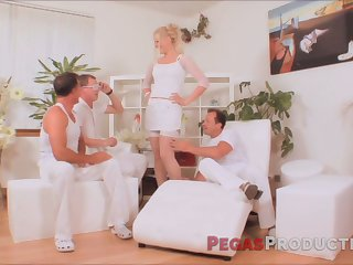 Canadian chick takes part in outlandish gangbang chapter for a difficulty principal time