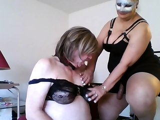 Mature femdom humiliates fetish dude purchase stripping