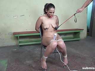 Girl with saggy tits, rough BDSM sex play in maledom XXX