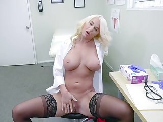 Unmasculine doctor enjoys a break by masturbating hard