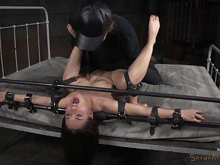 Rough bondage slave training session for submissive Gabriella Paltrova