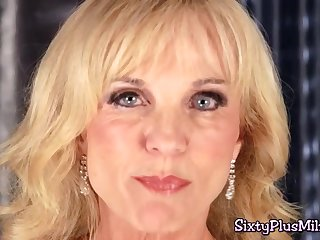 Young guy screwed blonde MILF with fat boobs