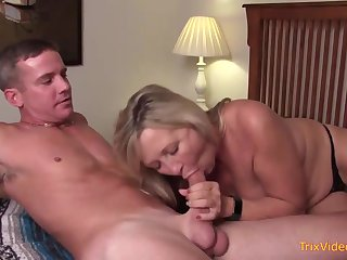 Mischievous mother and their way mischievous step- sonny are pulverizing in the bedroom, once in in a moment