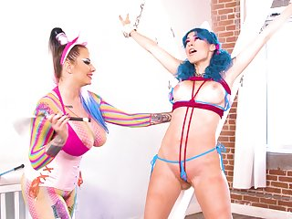 Enlivened and amazing hookup with cosplayers Jewelz Blu and Madeline Marlowe
