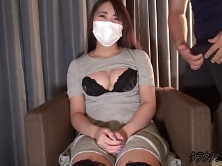 Busty asian fro mask loves to fuck