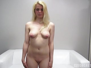 Casual Blondie Gives Slit At The Casting - Point Of View