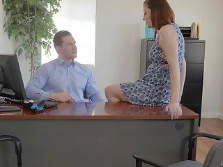 Secretary is keen to shake boss's hulking dick be advantageous to a raise