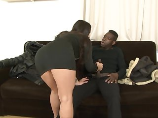 Big ass babe Mira Cuckold shows her lover how influentially of a BBC slut she is