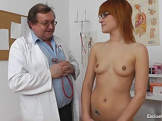 Redhead Close by Glasses Needs Doctor's Help - Gina Pearl