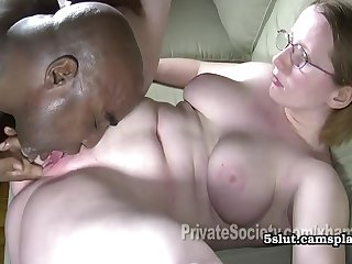 Heidi Goes Black - Tweak Plumper Interracial Sex