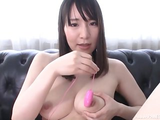 Cute Asian girl drops her dress to pleasure her cravings on a embed