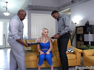 Black dudes fuck this habitation alone wife in insane modes