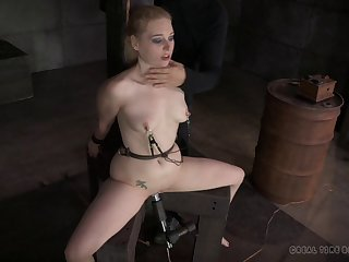 Torture session with epigrammatic tits blonde pornstar Delirious Tracker