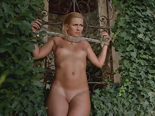 Submissive young fair-haired is ready to stomach her punishment